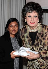 Durban director Shamika Dwarika with Evita Bezuidenhout