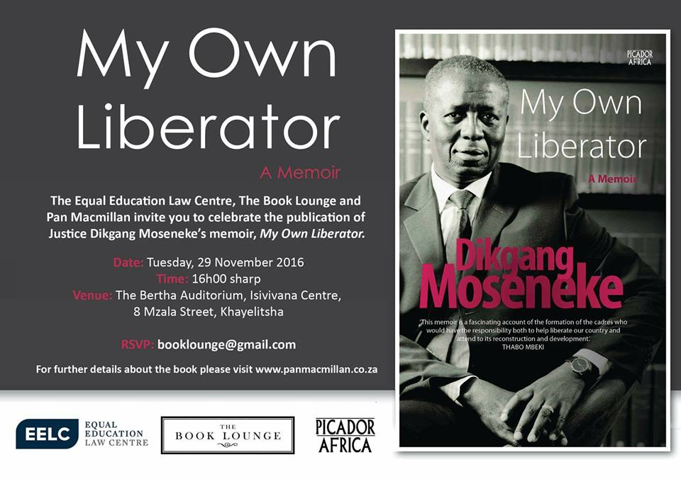 Official book launch of former Chief Justice Dikgang Moseneke